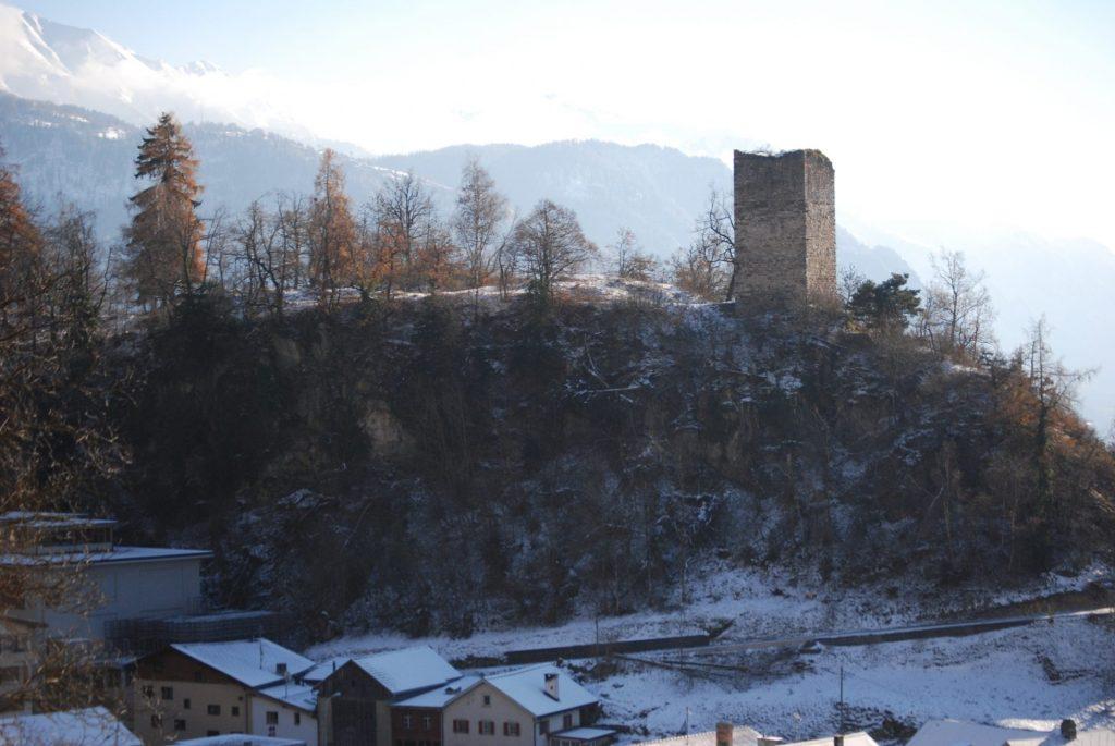 Trin GR, Burg Canaschal, © Archäologischer Dienst Graubünden