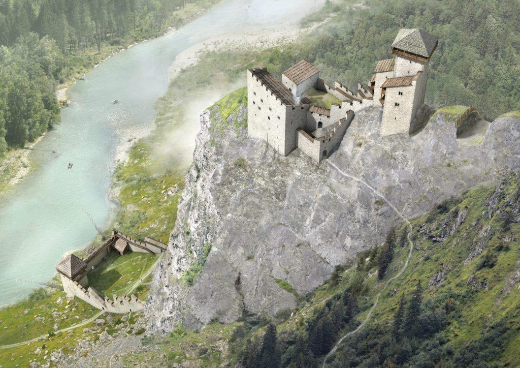 Rothenbrunnen GR, Burg Oberjuvalt, © bildebene.ch, Joe Rohrer, Luzern
