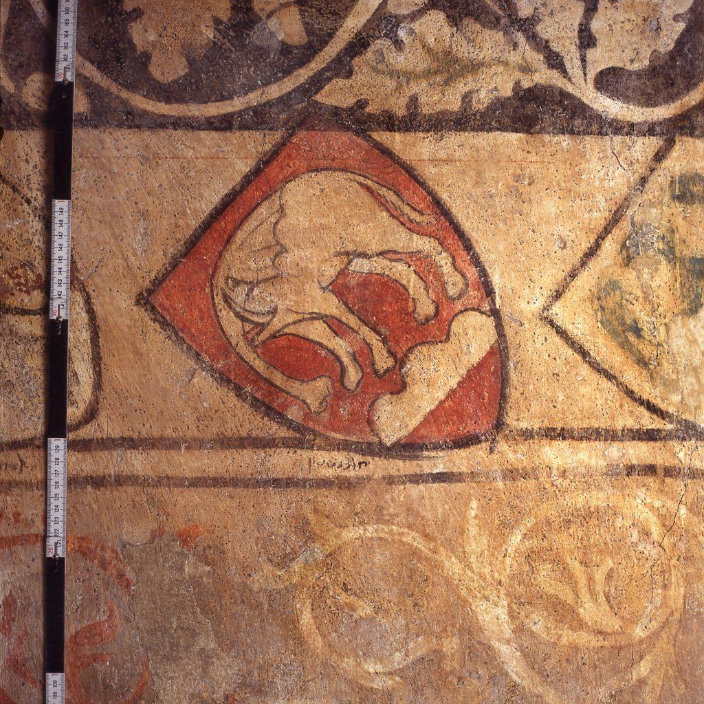 Zürich, Brunngasse 8, Wappen der Grafen von Helfenstein, © Daniel Gutscher.